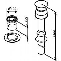 Bosch AZ 396 Ø60/100 L=1465 мм