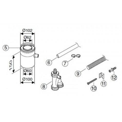 Bosch AZ 401 Ø60/100 для отведения конденсата