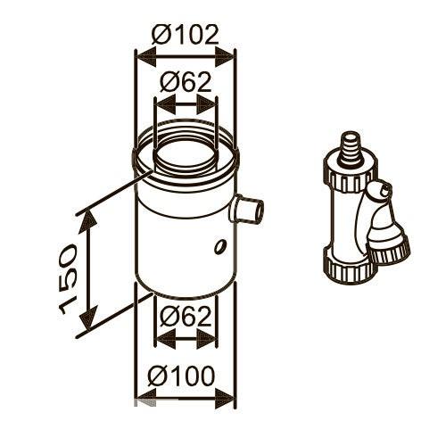 Bosch AZ 402 Ø60/100 для отведения конденсата