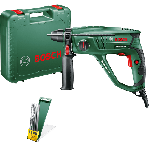 Перфоратор Bosch PBH 2100 RE + 2 Сверла И 2 Зубила